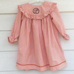 L Monogrammed Toddler Dress
